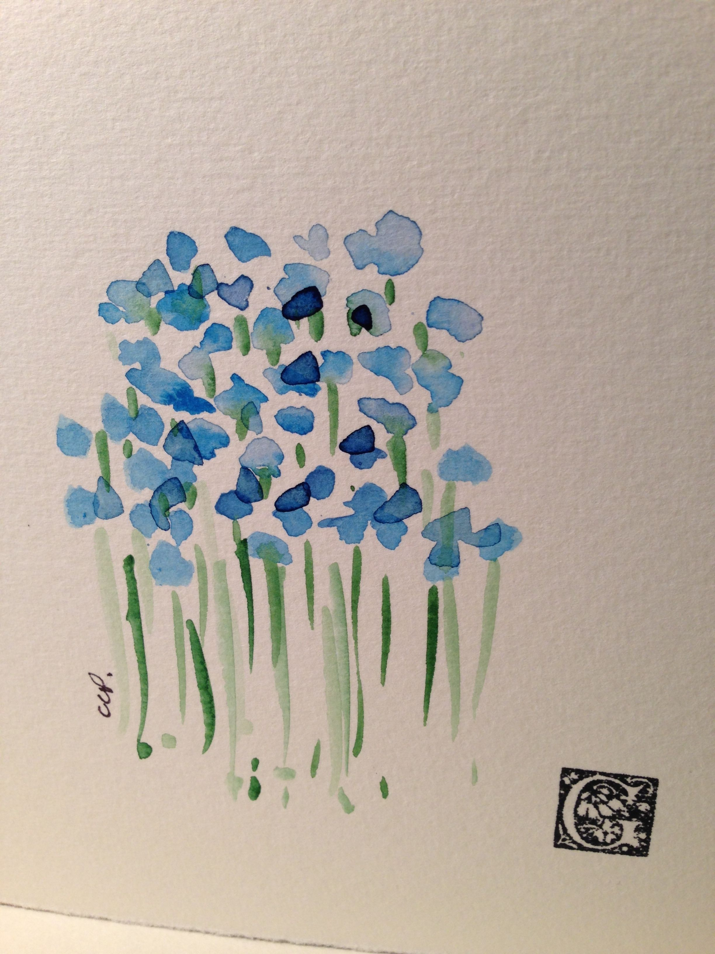 Hand Painted Watercolor Cards Gardenblooms Etsy Com Watercolor