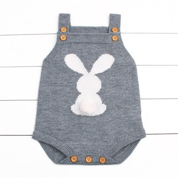 Photo of Newborn Baby Boy Girls Bunny Knitting Wool Romper Jumpsuit Outfits Set