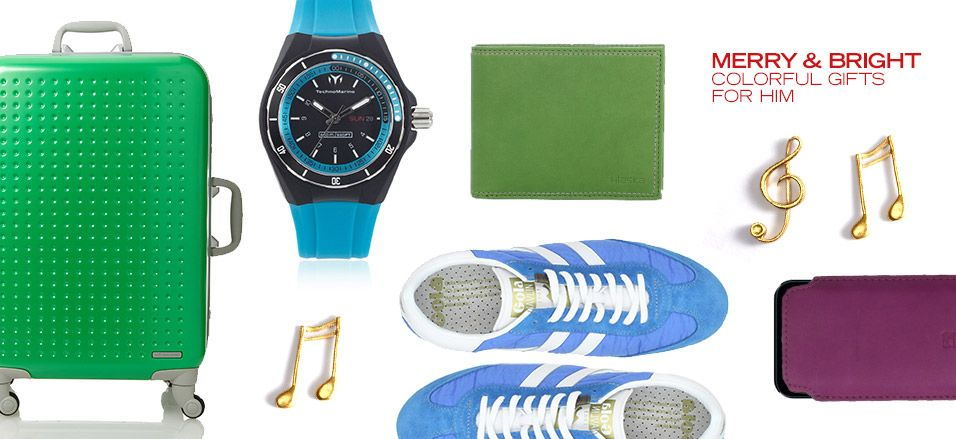 Merry & Bright: Colorful Gifts for Him