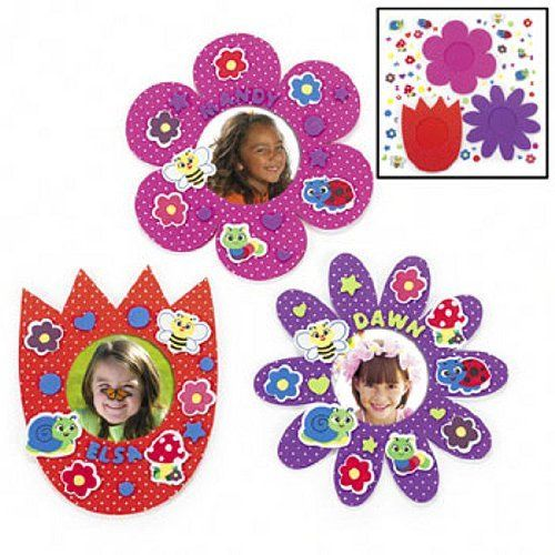 Foam Flower Picture Frames Craft Kits (1 dz) by Fun Express. $9.00 ...
