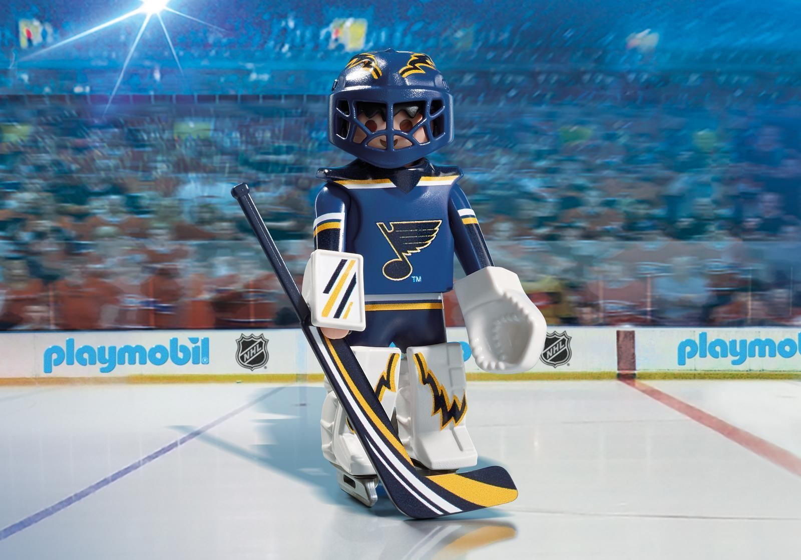 $8.99 - Playmobil 9183 Nhl St. Louis Blues Goalie - Factory Sealed #ebay #Collectibles