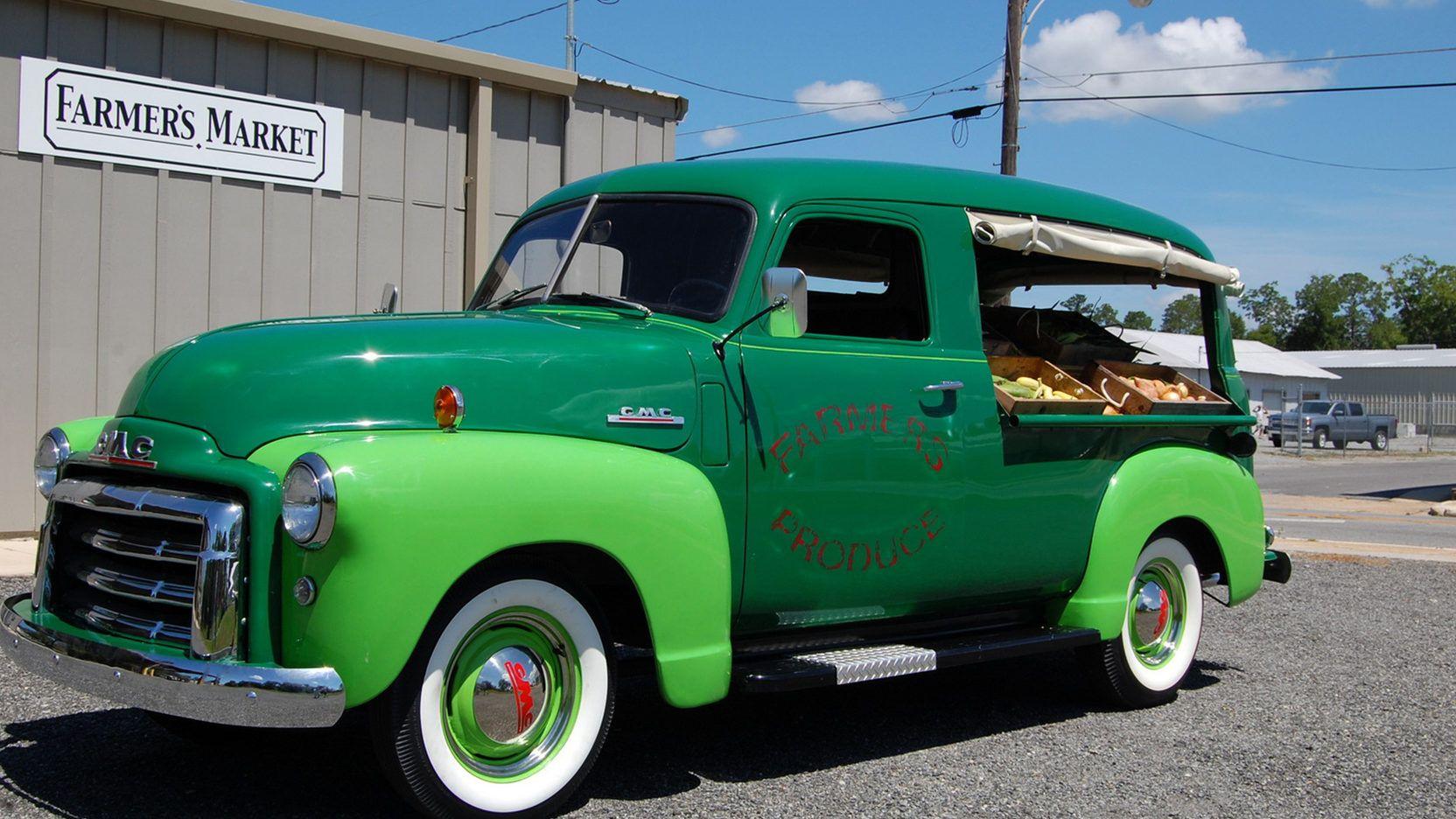 1948 Gmc 1 2 Ton Canopy Express Produce Truck Presented As Lot W217 At Kissimmee Fl Trucks Panel Truck Gmc