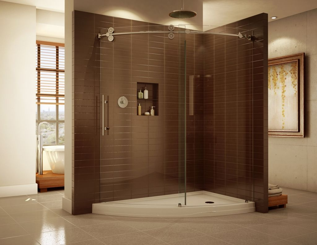Wonderful Frameless Corner Shower Stalls Framelesscurvedcornerslidingdoorshowerenclosureand For Ideas