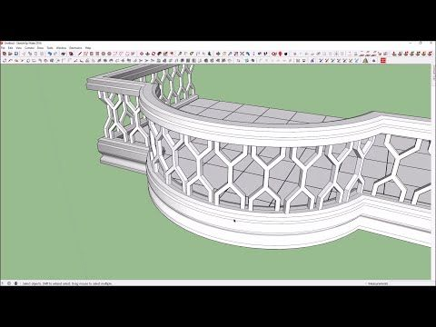 Best Sketchup Tutorial How To Make A Spiral Staircase 640 x 480