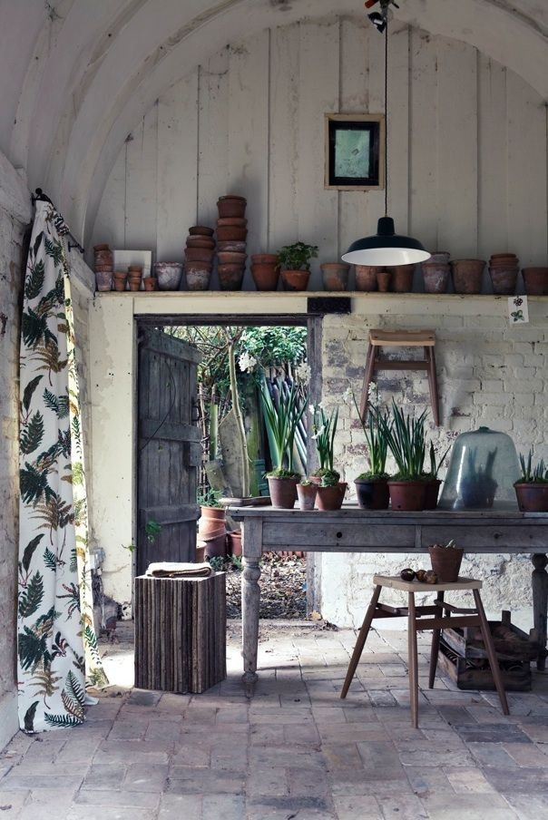 Shed Story 10 Stylish Sanctuaries for Storage is part of Luxury garden, Garden room, Outdoor decor, Garden shed, Decor, Potting sheds - When it comes to garden sheds, dream big  Shelves, storage, and style here are 10 ideas to steal to create a hardworking shed that feels like a sanctuary