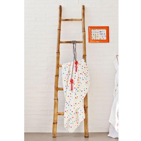 Porte serviette chelle bambou porte serviettes en forme - Echelle porte serviette bambou ...