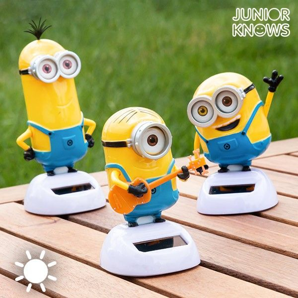 Minions Deko.Solar Powered Moving Minions Kinder Spielzeug Garten