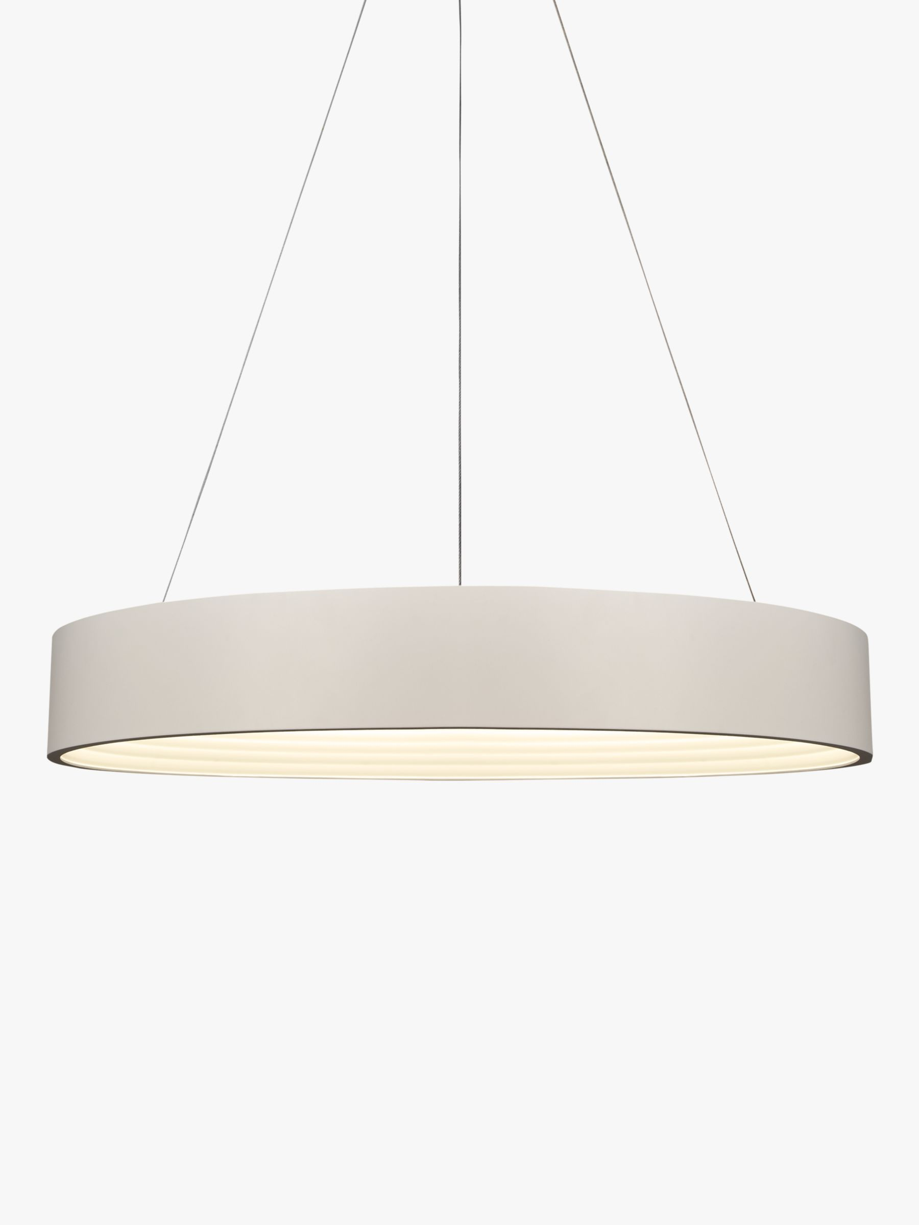 Leif Led Ribbed Hoop Ceiling Light