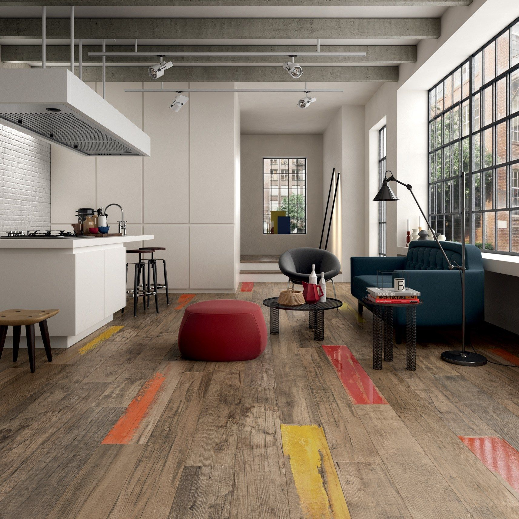porcelain stoneware wall/floor #tiles with #wood effect dolphin