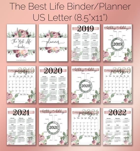 CUSTOMIZABLE Home Management Binder/Planner Printables