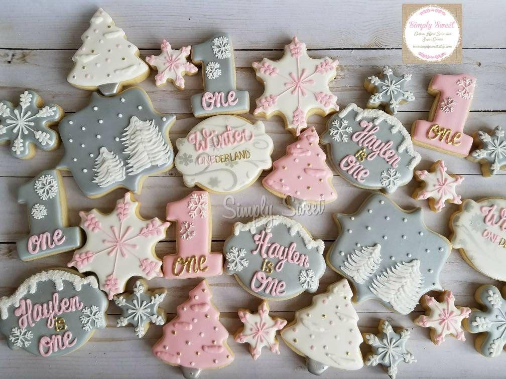 Winter Onederland sugar cookies (36 cookies)