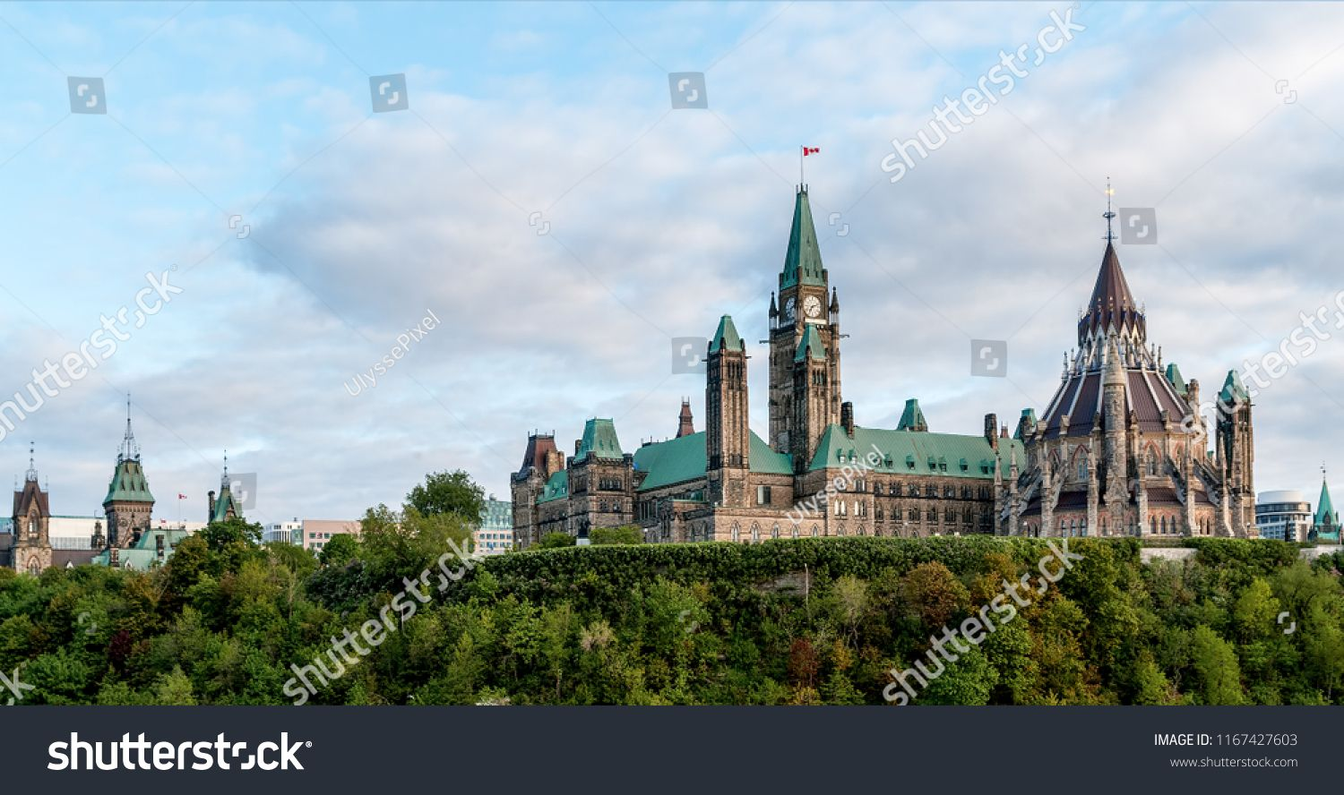 Parliament Hill Ottawa Ontario Canada Its Gothic Revival