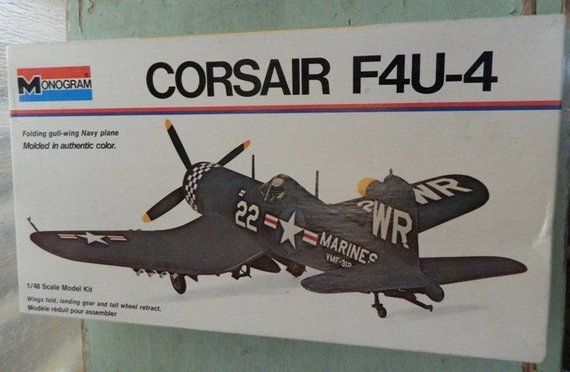 Model airplane Corsair F4U-4 Fighter Plane 1/48 scale kit