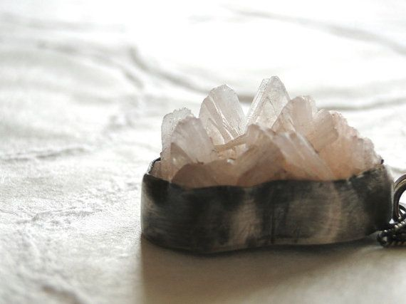 Here Now  Zeolite and Sterling Necklace by FruitionJewelry on Etsy, $145.00