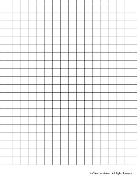 Printable Graph Paper And Grid Paper Coloring Pages