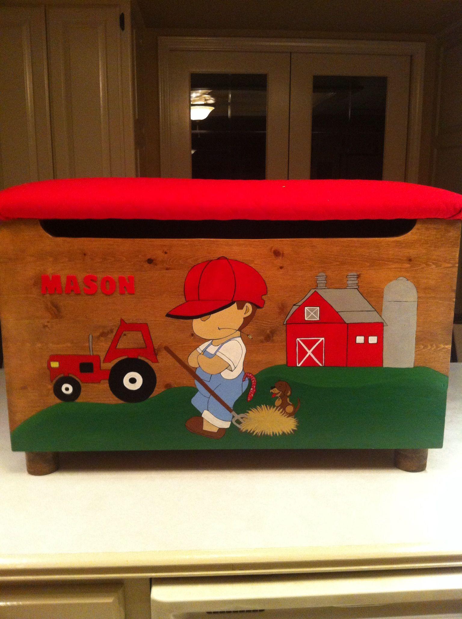 Mason S Farm Boy Toy Box Made By Cccbyreta Etsy Boys