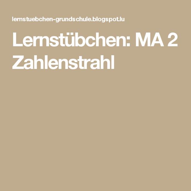Lernstübchen: MA 2 Zahlenstrahl