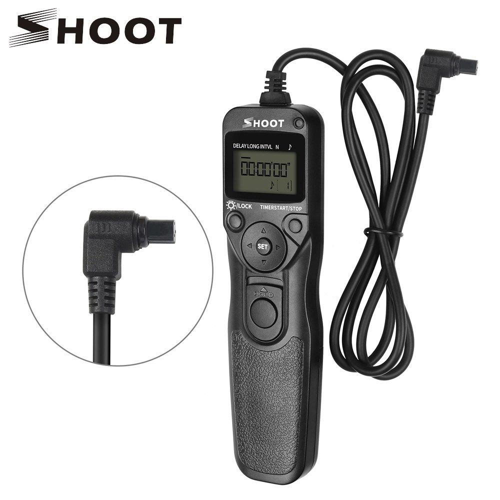 Shoot Rs 80n3 Lcd Timer Shutter Release Remote Control For Canon Eos 5d Mark Ii 5d 6d 7d 10d 20d 30d 40d 50d 1d 1ds 5d Mark Remote Control Timer Camera Shutter
