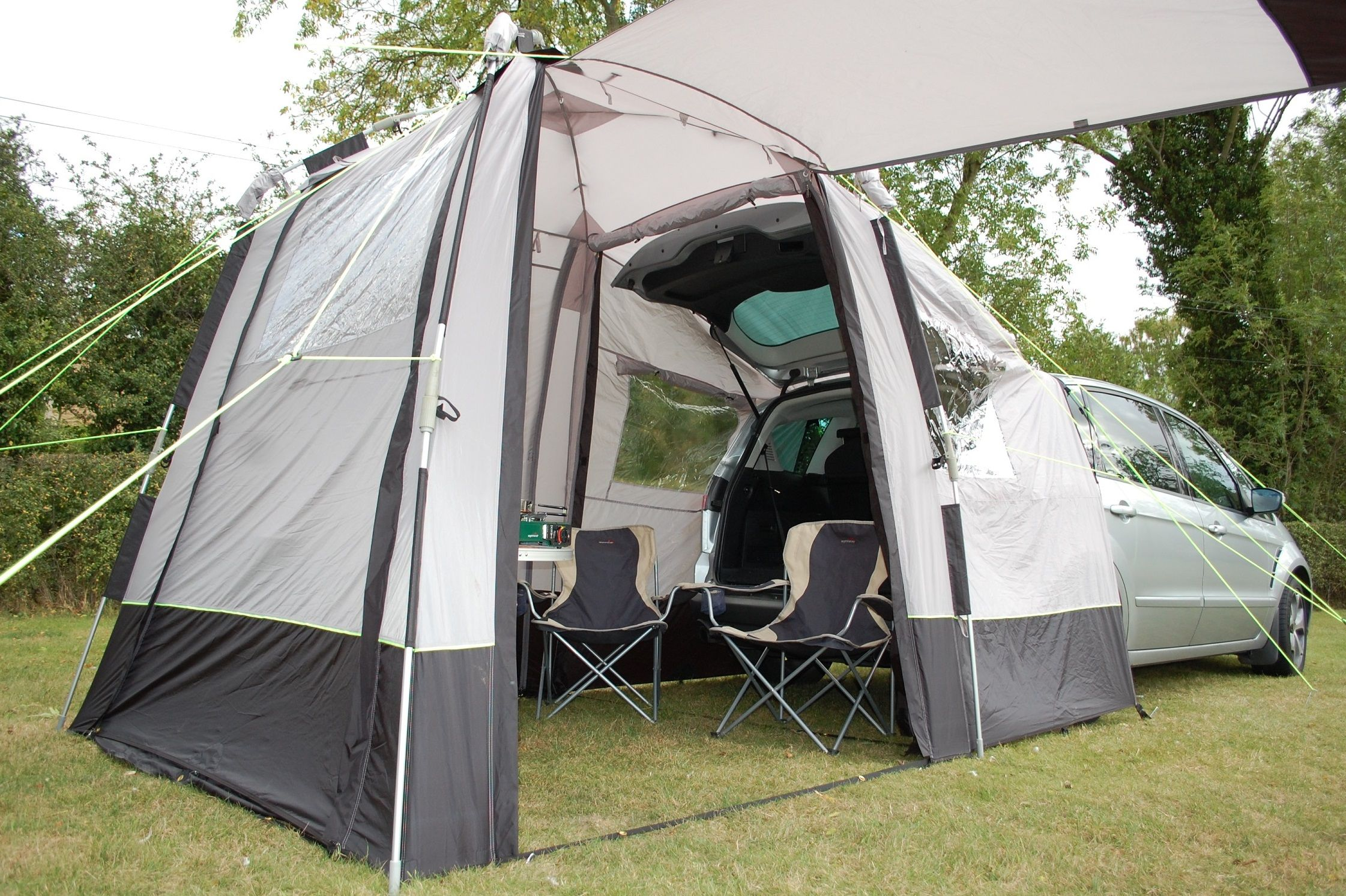 The Khyam Tailgate Quick Erect Motor-Dome Awning is ...