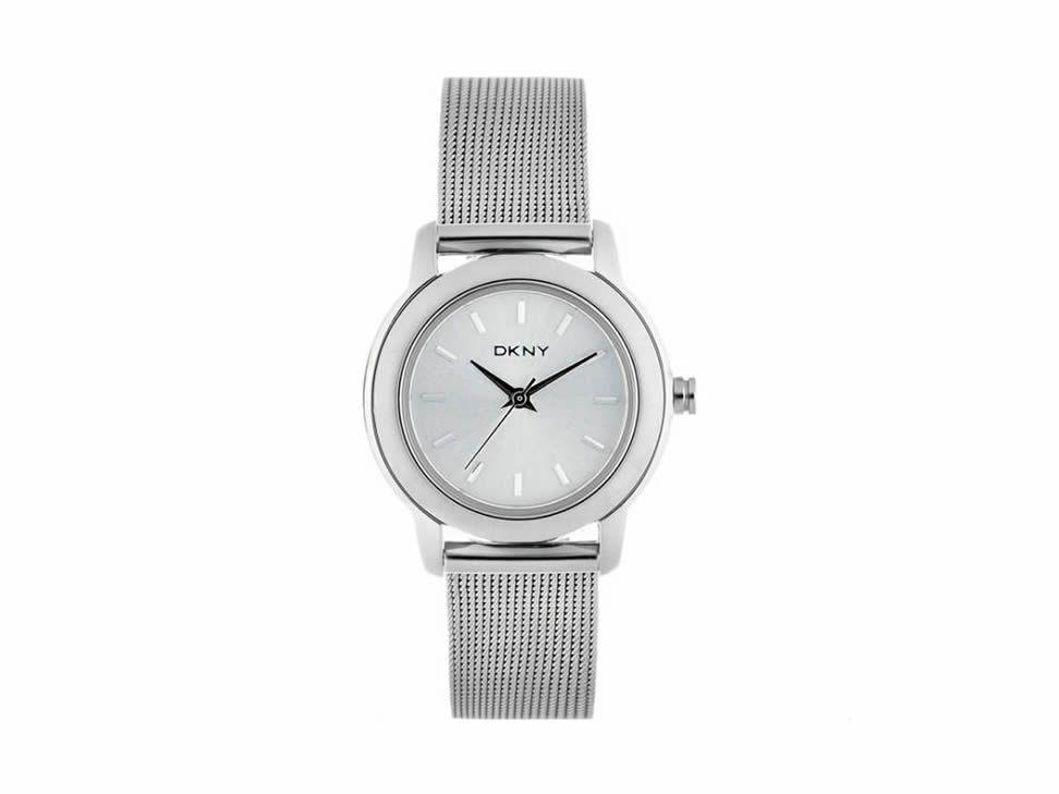 Reloj Dkny Plata Ny8552 Lock Loaded Para Dama Reloj Liverpool Plata