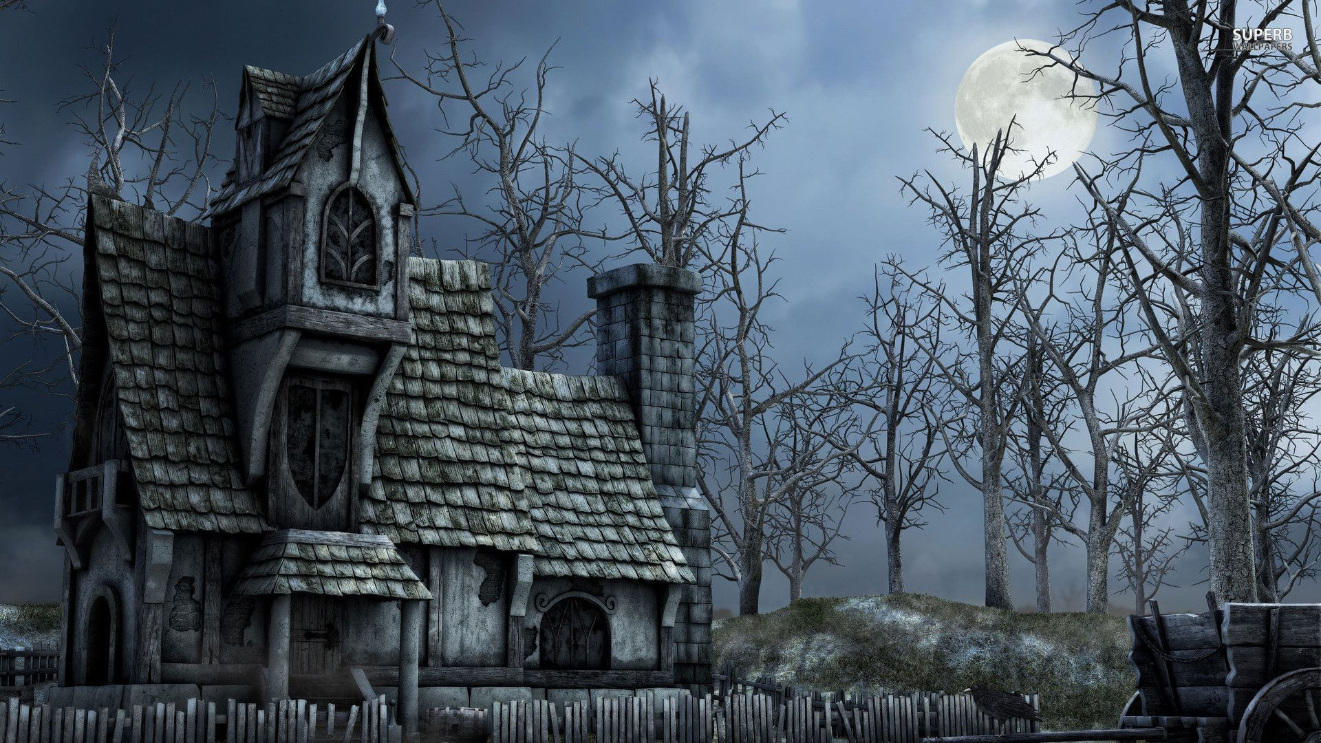 Haunted House Wallpaper 1920 X 1080 With Images Haunted