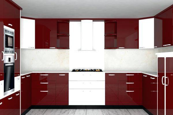 Rote und weiße Küche Innenarchitektur 2018 Pinterest - Küchen Weiß Hochglanz