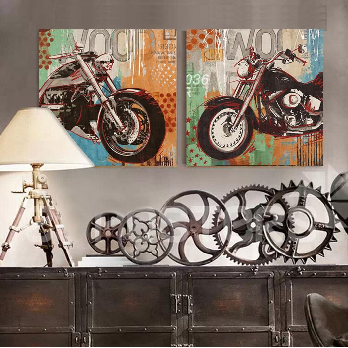 Find More Painting & Calligraphy Information about Motorcycle ...