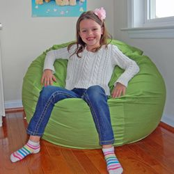 @Overstock.com   Lime Green Organic Cotton Washable Bean Bag Chair   This  Adorable
