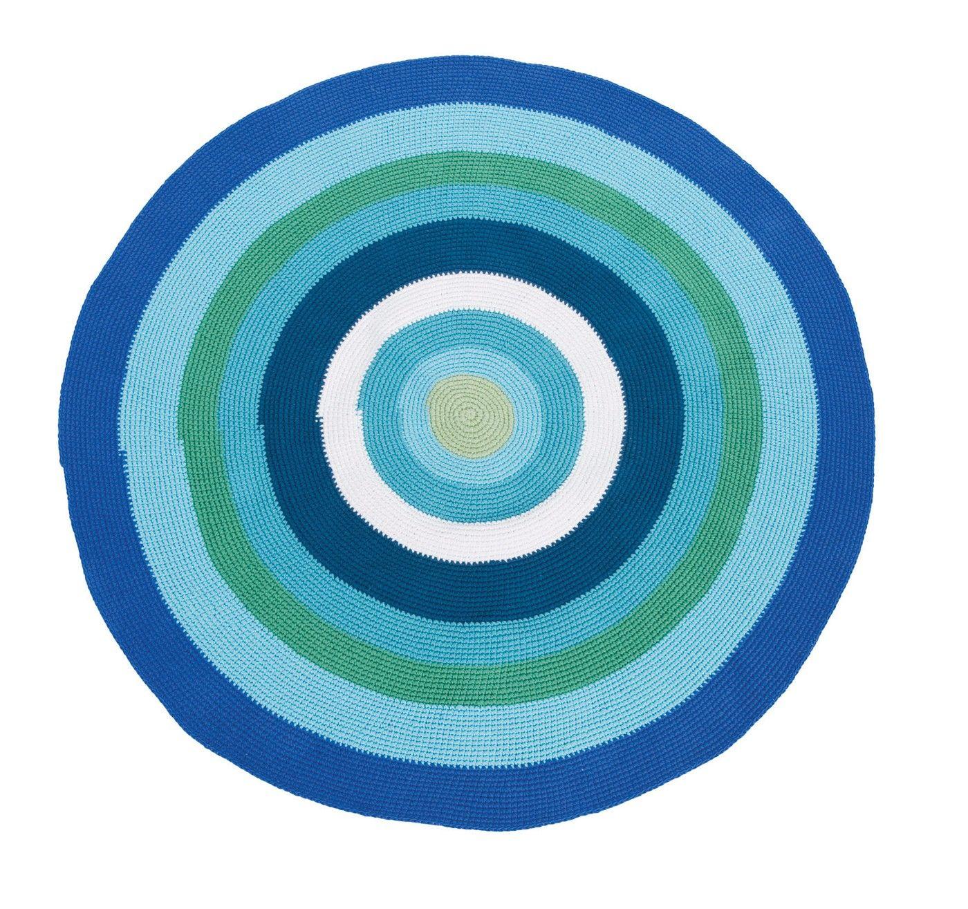 Vloerkleed Groen Blauw Top Blauw Hoogpolig Vloerkleed