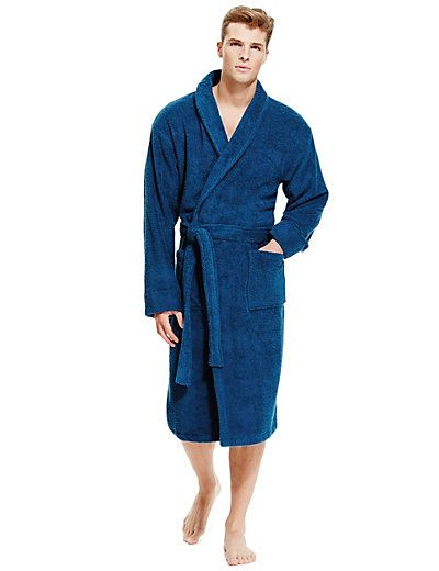 Cotton Rich Towelling Dressing Gown | mens towelling robe ...