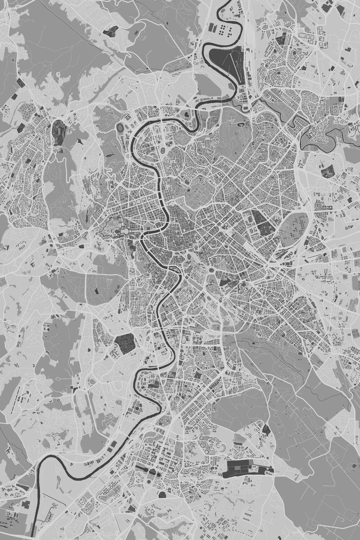 Rome Poster Map Artwork Poster Artwork Artwork Map Artwork