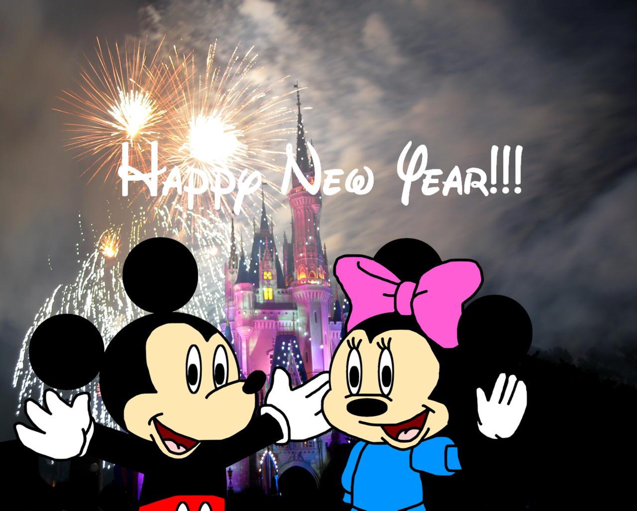 Mickey News Years Mickey and Minnie wish Happy New Year