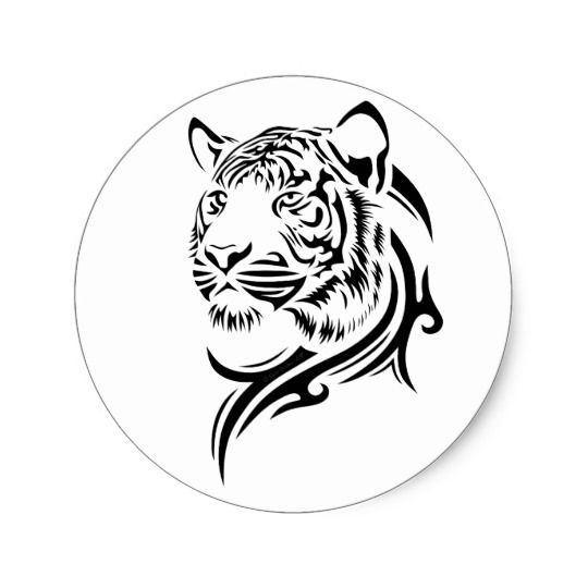 Tribal Style Tiger Stickers   Zazzle com is part of Tribal Style Tiger Stickers Zazzle Com -  These are Customizable Stickers displaying the graphic design of a Tiger using a tribal style design to accentuate the pose of the Tigers head and to give it an air of motion as if turning suddenly  This design only works on Lighter colored Backgrounds, preferably white     Cick  customize it  to move, resize, or add your own text to the design  Play with it and make it unique to you