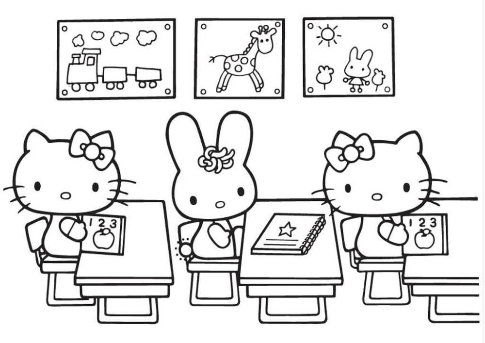 Раскраски Хелло Китти (Hello Kitty) | Книжка-раскраска ...
