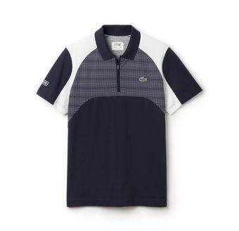 65e1bb68ec9cb Polo regular fit Lacoste SPORT en jersey ultra-léger imprimé résille ...