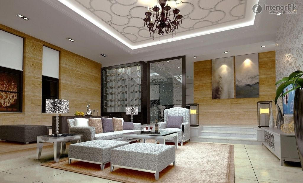Simple european ceiling decoration living room effect - Simple ceiling design for living room ...