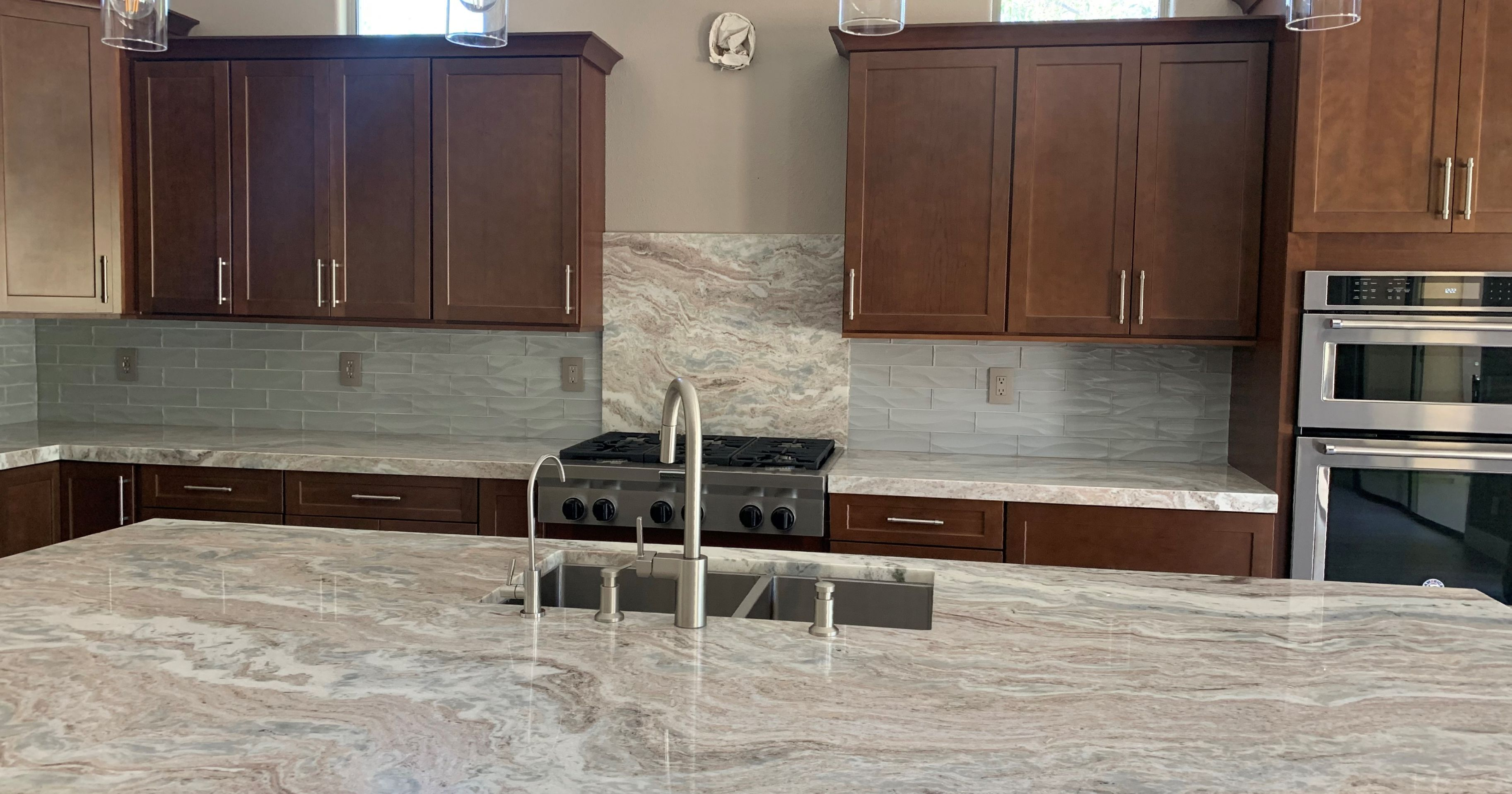 - This Is A Custom Build Home In Las Vegas, NV Used Fantasy Brown Satin  #marble & Dunes Denim 3x12 Wave In The Kitchen. F… (With Images) Kitchen  Design, Custom Built Homes,