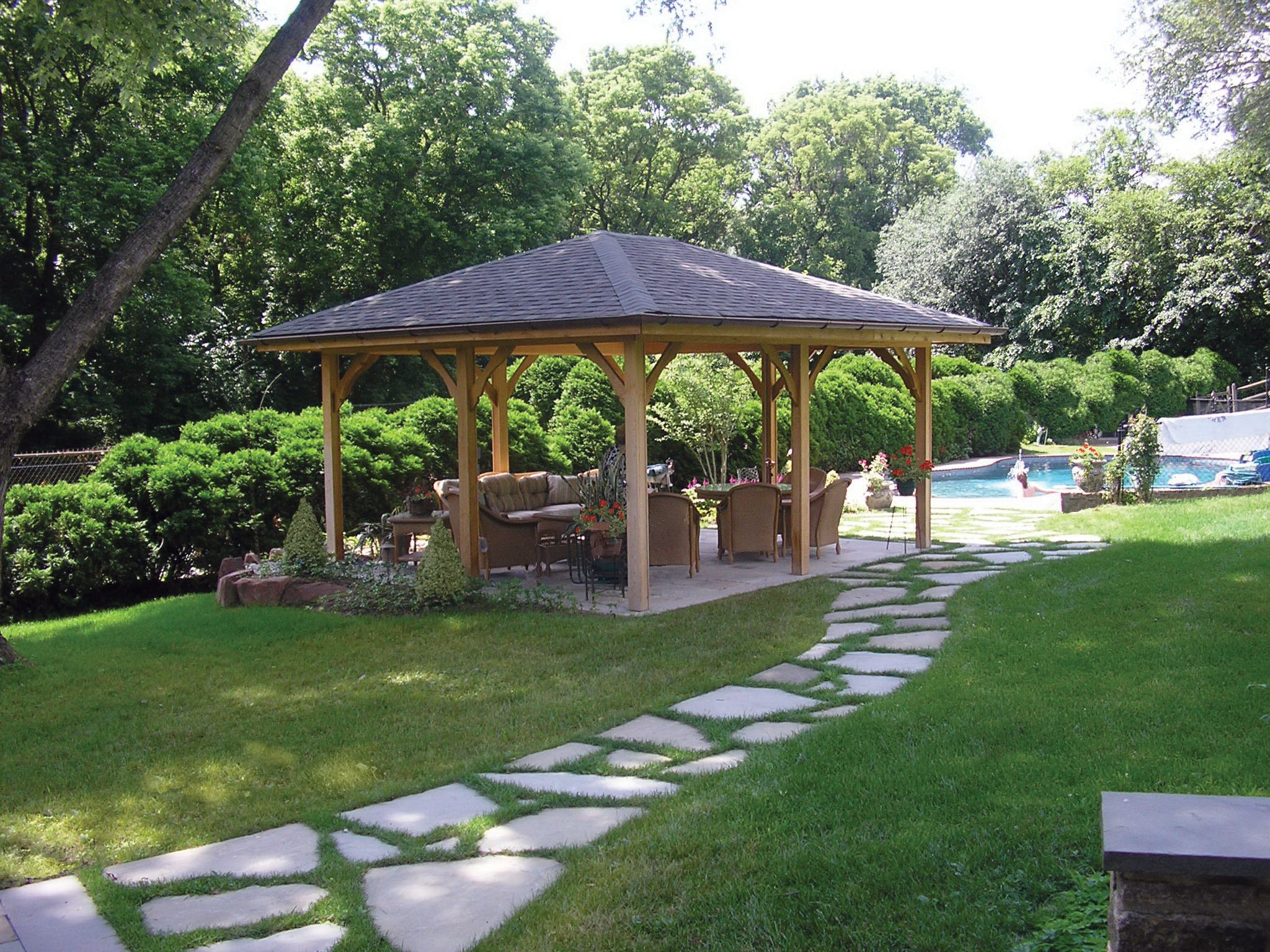 cedar pool pavilion built by gasper pool pavillions