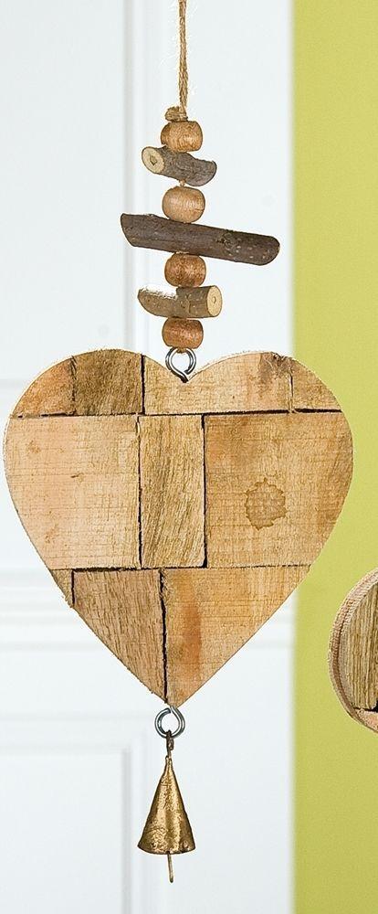 gilde dekoh nger h ngedeko fensterdeko herz als puzzle aus mangoholz 15x42 cm selbermachen. Black Bedroom Furniture Sets. Home Design Ideas