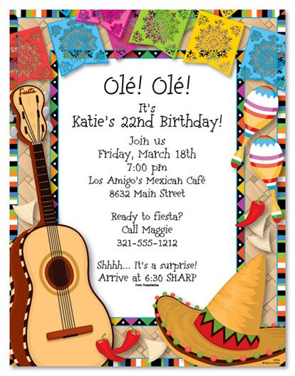 Mexican Fiesta Invitations Christmas Photo Cards Party Stationery