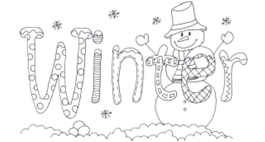 Word Of Winter Coloring Pages For Kids  Coloring pages winter