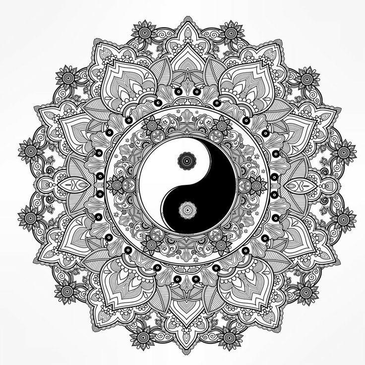 #coloring #mandala #pages #yang #yin #2020
