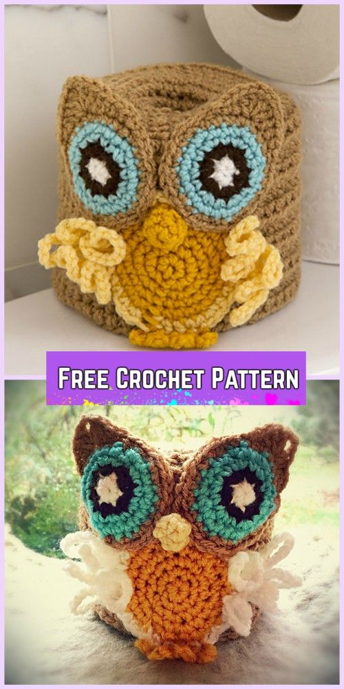 Crochet Owl Basket Free Patterns | Ganchillo, Tejido y Cestas