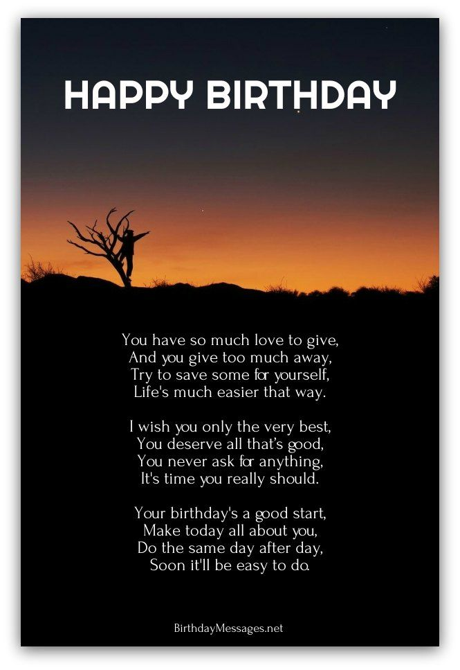 Inspirational Birthday Poems Page 3 Birthday poems