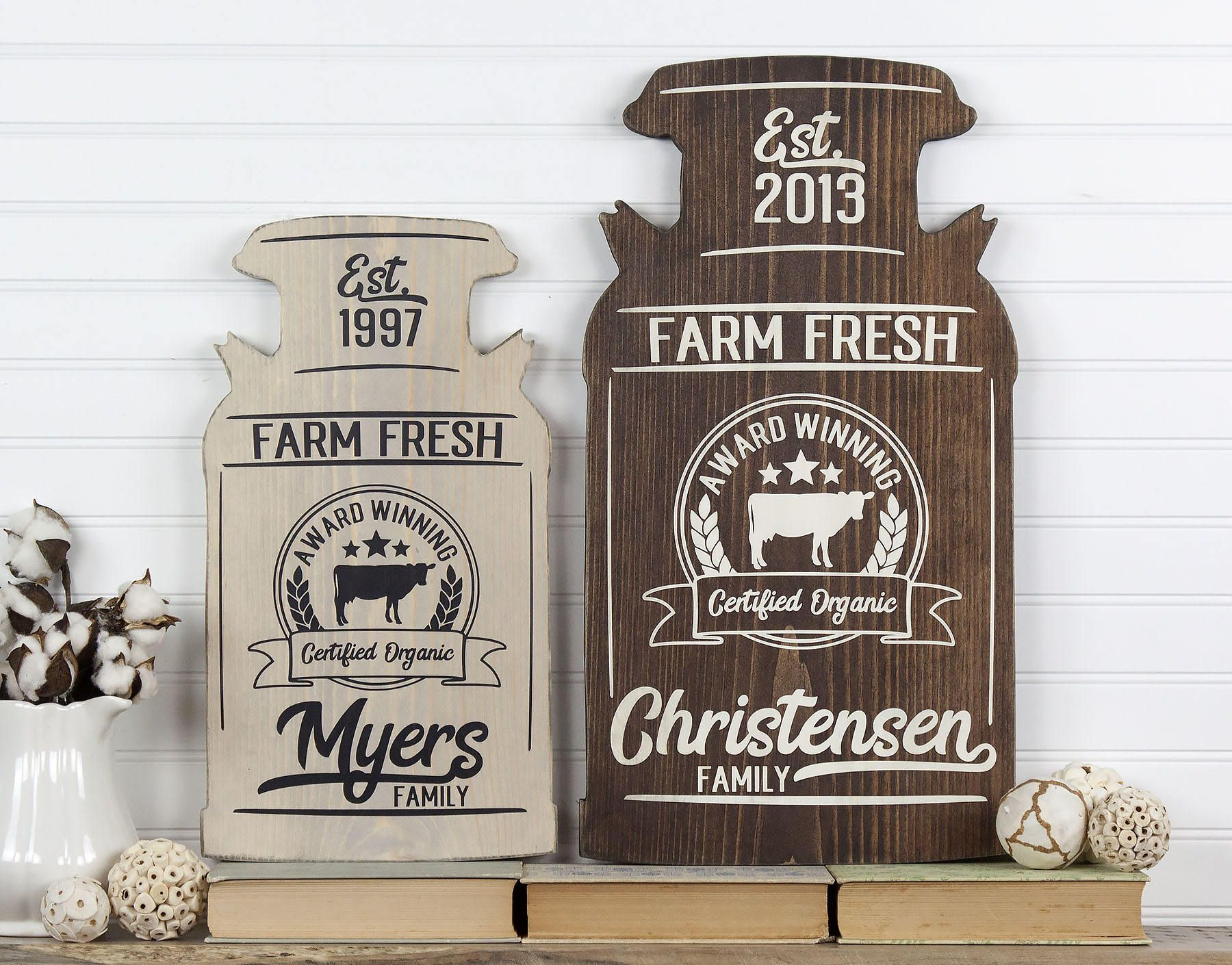 Cow Themed Decor For Your Home Or Office Sprinkled And Painted At Ka Styles Co Cow Decor Farm Fresh Milk Wood Cutouts