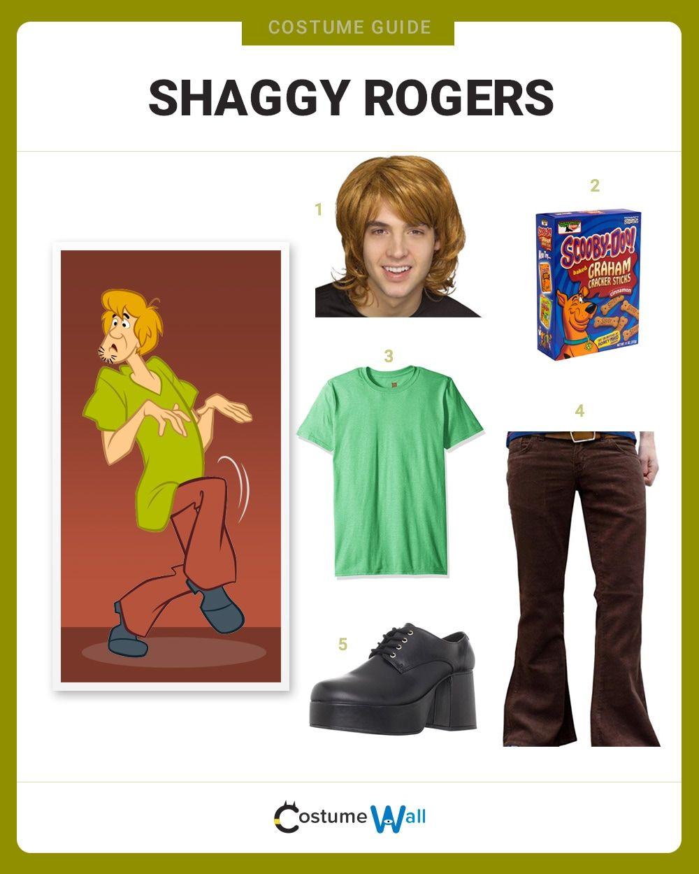 Dress Like Shaggy Rogers Velma Costume Scooby Doo Halloween