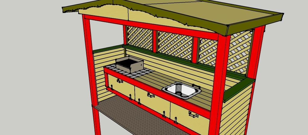 gartenk che zum selber bauen bauanleitungen baupl ne selberbauen pinterest bauanleitung. Black Bedroom Furniture Sets. Home Design Ideas