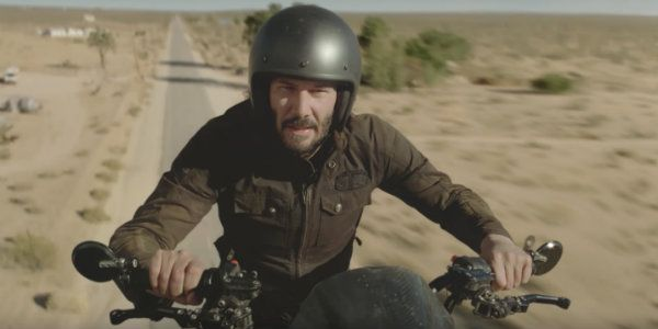 Watch Keanu Reeves Get Dangerous With A Motorcycle For Weird Super Bowl Ad