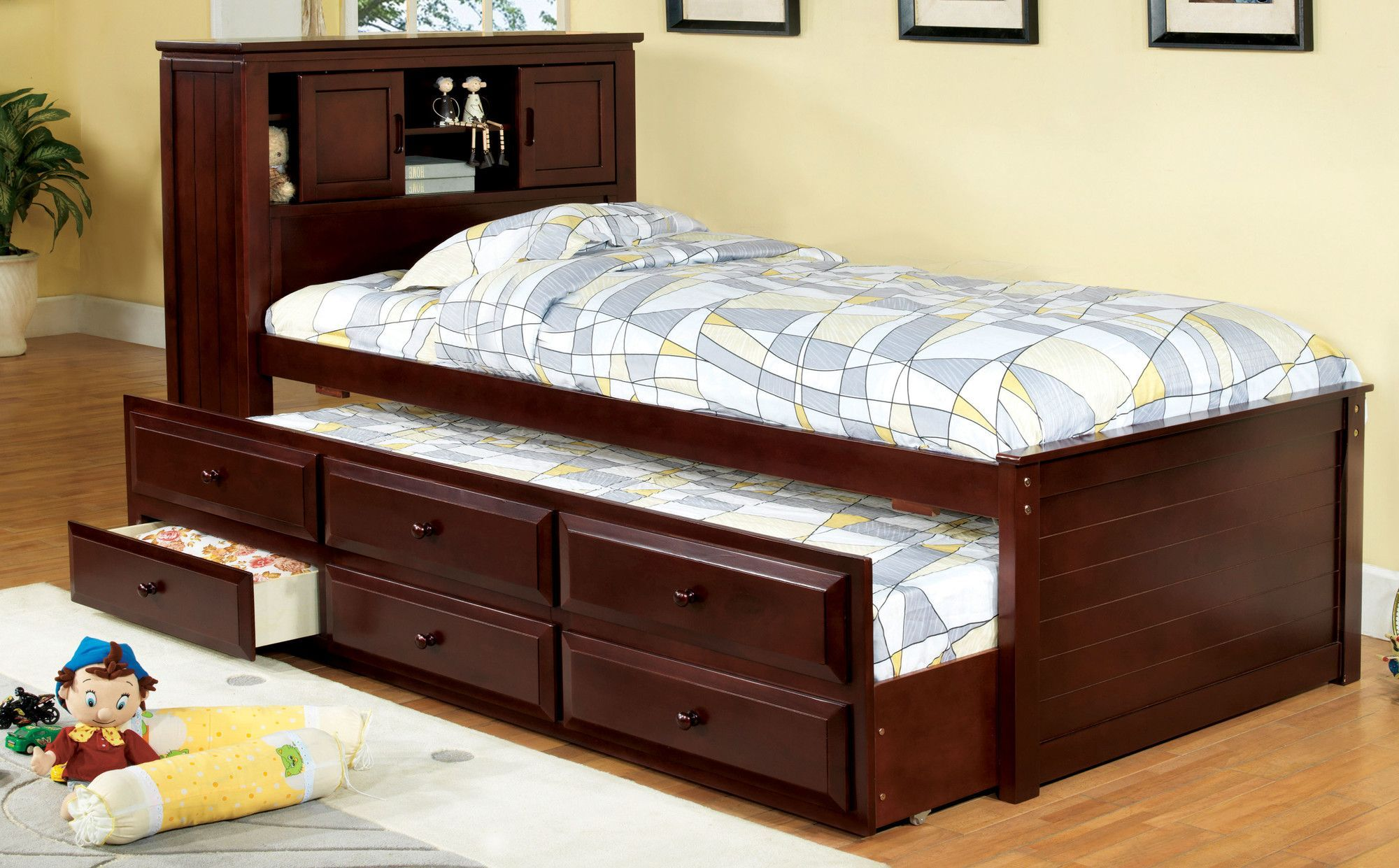 Montana Twin Mate S Captain S Bed With Bookcase And Drawers