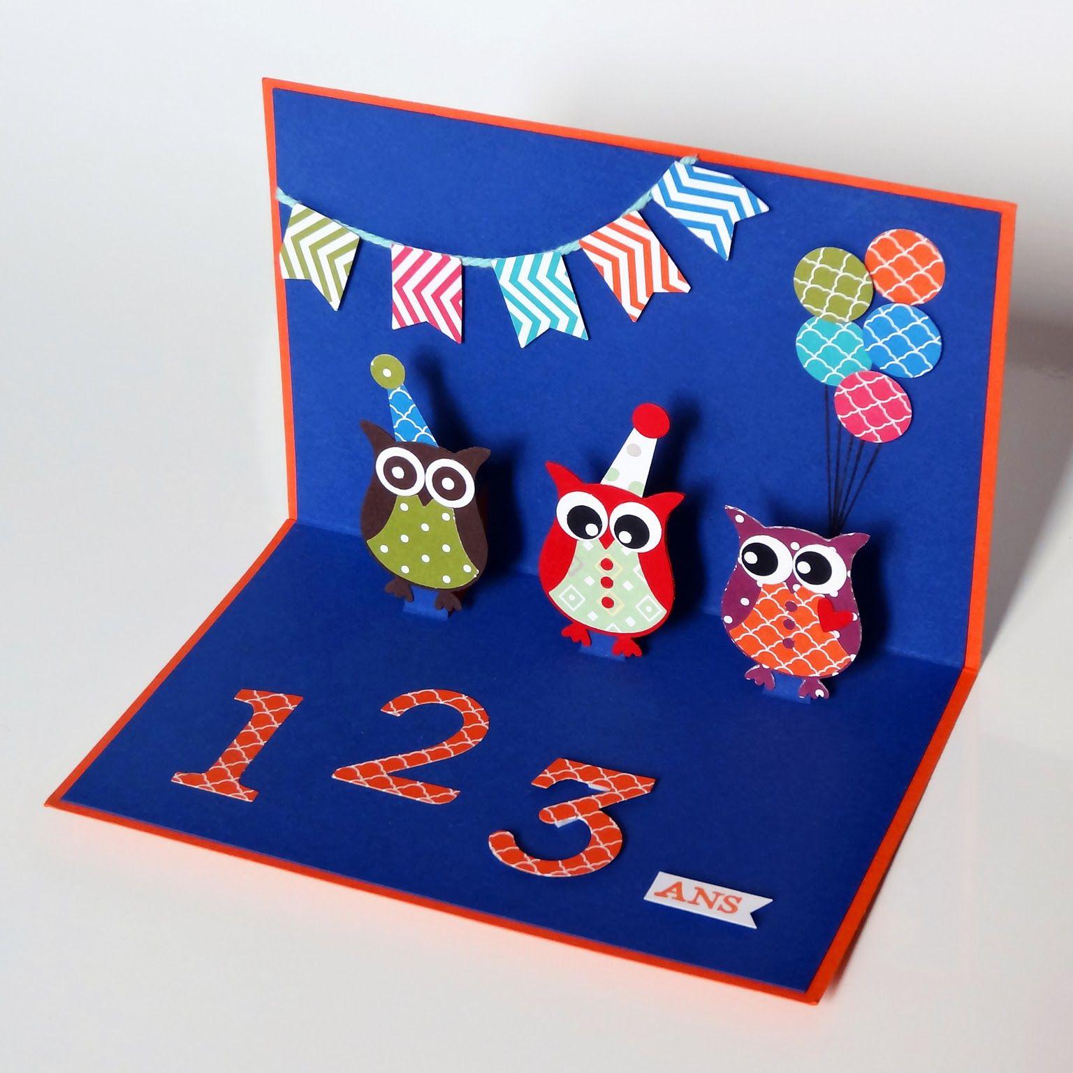 Djudi Scrap Carte D Anniversaire Pop Up Pour Enfants Carte Anniversaire Carte Anniversaire Scrapbooking Carte Anniversaire Enfant
